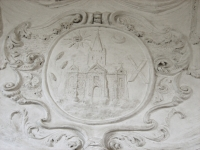 Plaster relief in the chapel